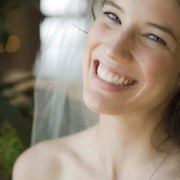 Smiling Woman On Wedding Day - Asheville Dentists